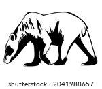 polar bear  wild animal living...   Shutterstock .eps vector #2041988657