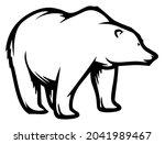 polar bear  wild animal living...   Shutterstock .eps vector #2041989467