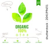 organic vector label. natural... | Shutterstock .eps vector #204199651