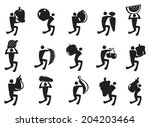 vector illustration of icon man ... | Shutterstock .eps vector #204203464