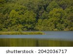 The landscape of Shabbona Lake State Park in Dekalb County, Illinois