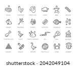 meat  poultry  fish and eggs  ...   Shutterstock .eps vector #2042049104