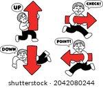 smiley plain clothes senior... | Shutterstock .eps vector #2042080244