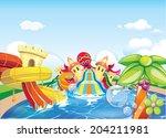 octopus water park | Shutterstock .eps vector #204211981