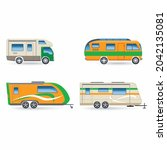 recreational car vehicle icons... | Shutterstock .eps vector #2042135081