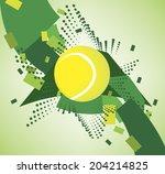 green tennis courts   Shutterstock .eps vector #204214825