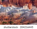 scenic view of bryce canyon... | Shutterstock . vector #204216445