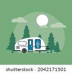 recreational vehicle in the... | Shutterstock .eps vector #2042171501