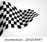 checkered flag | Shutterstock .eps vector #204219697