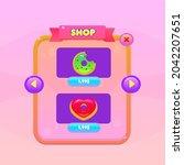 game ui buttons set pink orange ...