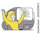 concept of script coding ...   Shutterstock .eps vector #2042209817