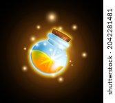 magic potion bottle game vector ...