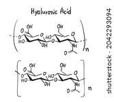 hyaluronic acid molecule...   Shutterstock .eps vector #2042293094