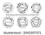 hud circular element vector...