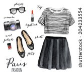 Fashion Illustration. Paris...