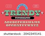 retro serif typography design... | Shutterstock .eps vector #2042345141