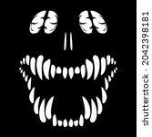 toothy monster. halloween....   Shutterstock .eps vector #2042398181