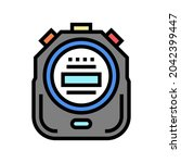 stopwatch device color icon...   Shutterstock .eps vector #2042399447