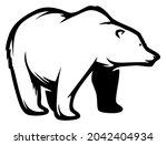 polar bear  wild animal living...   Shutterstock .eps vector #2042404934