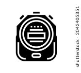 stopwatch device glyph icon...   Shutterstock .eps vector #2042405351