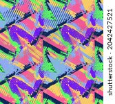 seamless abstract urban pattern ... | Shutterstock .eps vector #2042427521