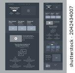 website design layout. dark...