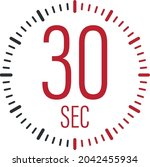 the 30 second  timer  stopwatch ...   Shutterstock .eps vector #2042455934