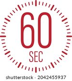 the 60 second  timer  stopwatch ...   Shutterstock .eps vector #2042455937