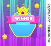 game ui reward stars  winner...