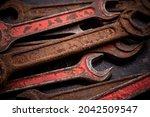old vintage construction tools. ... | Shutterstock . vector #2042509547