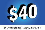 40 dollar    40 3d blue price... | Shutterstock .eps vector #2042524754