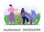 motherhood and love concept.... | Shutterstock .eps vector #2042563394
