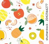 seamless pattern with different ...   Shutterstock .eps vector #2042566277