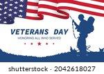 veteran's day poster.honoring... | Shutterstock .eps vector #2042618027