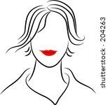 line lady | Shutterstock . vector #204263