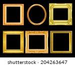 set of golden vintage frame... | Shutterstock . vector #204263647