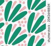 playful fresh doodle floral... | Shutterstock .eps vector #2042648834
