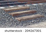 Old Wooden Stairways In Railway ...