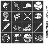 a set of sports icons   design... | Shutterstock .eps vector #2042679