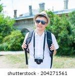 portrait of tourist | Shutterstock . vector #204271561