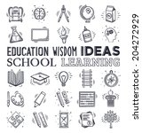 education and learning icon set.... | Shutterstock .eps vector #204272929