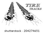 tire tracks. vector... | Shutterstock .eps vector #204274651