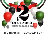 fifty uae national day  spirit...   Shutterstock .eps vector #2042824637