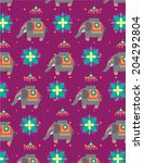 elephant background vector... | Shutterstock .eps vector #204292804