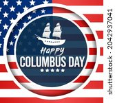 columbus day is observed every... | Shutterstock .eps vector #2042937041