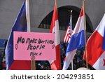 21 april   boston  ma  flags... | Shutterstock . vector #204293851