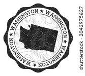 washington outdoor stamp. round ...   Shutterstock .eps vector #2042975627