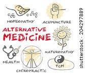 alternative medicine. keywords... | Shutterstock .eps vector #204297889