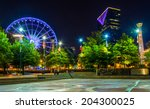 ferris wheel and buildings seen ... | Shutterstock . vector #204300025