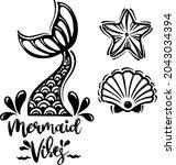 mermaid vibes  vector... | Shutterstock .eps vector #2043034394
